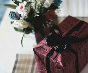 flower, flowers, and gift image