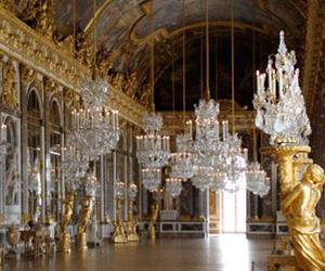 chandelier, france, and versailles image