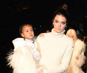 kendall jenner, north west, and kim kardashian image