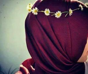 hijab and daisy image