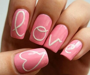 nails, love, and pink image