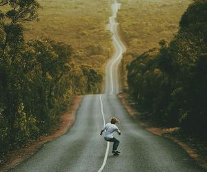 skate, photography, and road image