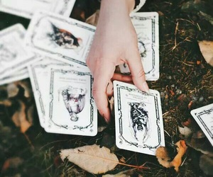 cards, witch, and adam parrish image