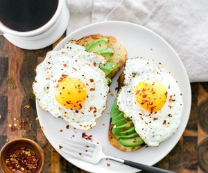 food, breakfast, and eggs image