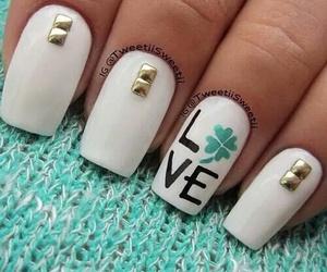 nails, love, and nail art image