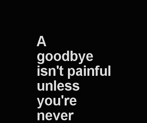 goodbye, never, and quote image