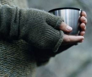 coffee, cup, and gloves image