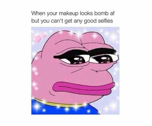 funny, makeup, and sad image