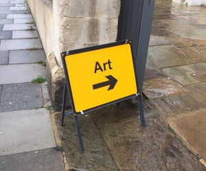 art, yellow, and tumblr image