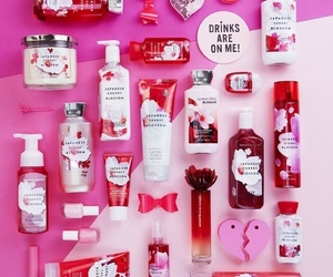 pink, body lotion, and cherry blossom image