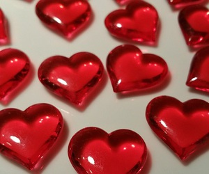 hearts, aesthetic, and red image