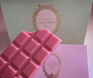 pink, chocolate, and food image