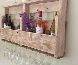 pallets, pallet ideas, and pallet wine rack image