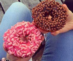 food, donuts, and chocolate image