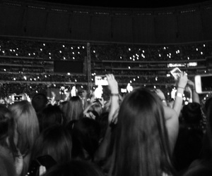 black and white, concert, and crazy image