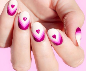 beauty, hearts, and nails image
