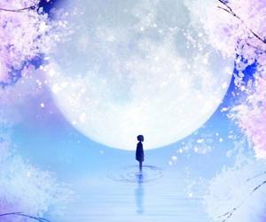 moon, anime, and wallpaper image