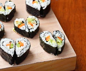 healthy and sushi image