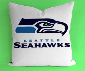 eagle, pillows, and seahawks image