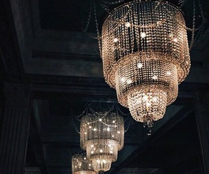 light, chandelier, and luxury image