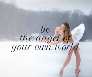 angel, ballerina, and ballet image