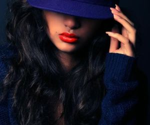 girl, blue, and swag image
