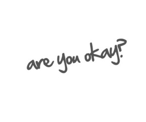 typography and are you okay image