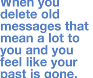 past, message, and text image