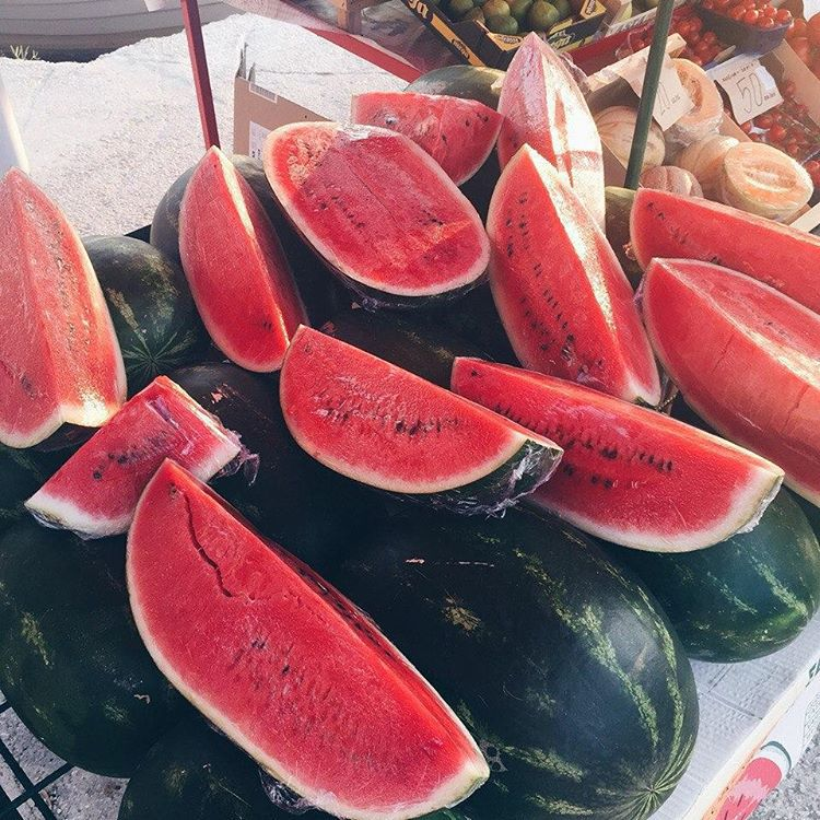 colors, watermelons, and food image
