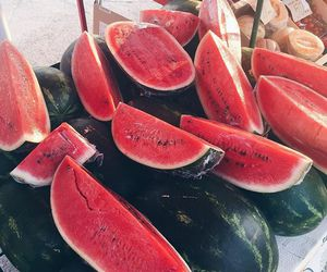 colors, summer, and watermelons image