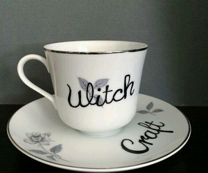 craft, cups, and witch image