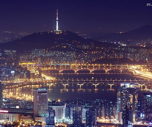city, night view, and seoul image