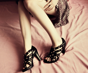 dress, feet, and shoes image