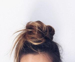 hair, girl, and bun image
