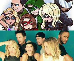 arrow, willa holland, and katie cassidy image
