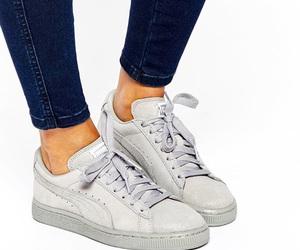 grey, puma, and shoes image