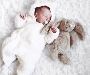 baby, bunny, and cosy image