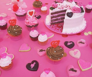cake, chocolate, and cupcakes image