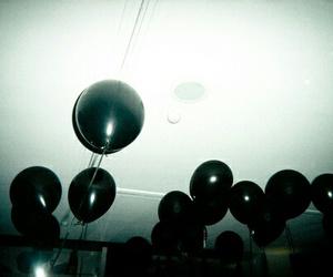 balloons, black, and grunge image