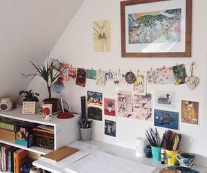 room, desk, and decor image