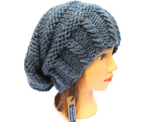 beanie, blue, and hat image