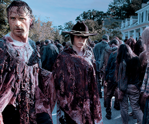 zombies, walkers, and rick grimes image