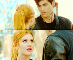 clary fray, alec lightwood, and shadowhunters image