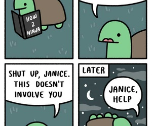 funny, ninja, and turtle image