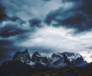 mountains, nature, and blue image