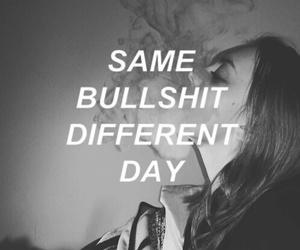 quotes, bullshit, and sad image