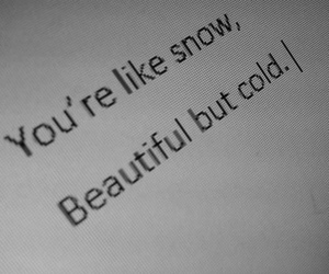 snow, beautiful, and cold image