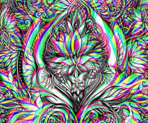 wallpaper, trippy, and drugs image