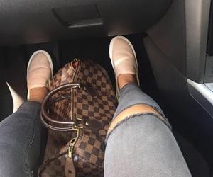 bag, handbag, and monogram image