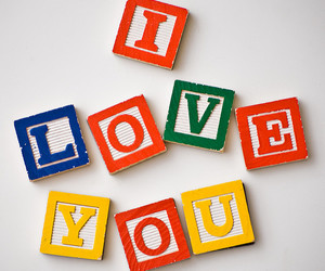 I Love You, letters, and magnets image